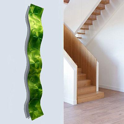 Statements2000 3D Metal Wall Sculpture Accent Modern Lime Green Decor Jon Allen