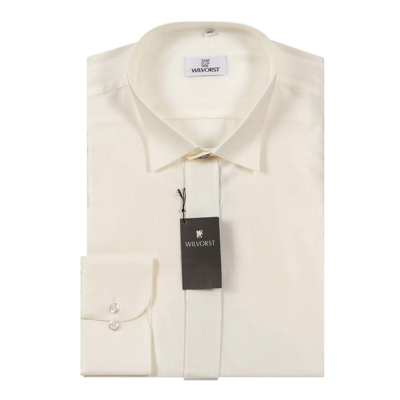 Wilvorst Smokinghemd,Herrenhemd 470011/80 mit Kläppchenkragen,Regular Fit, Champ