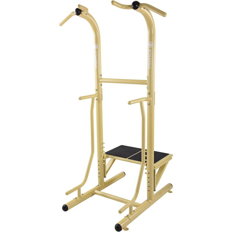 Stamina 65-1485 Weather-Resistant Outdoor Fitness Power Tower Pro Station, Gold