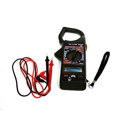 Dt266 Digital Clamp Meter Acdc Multimeter Ohmmeter Temperature Tester Black