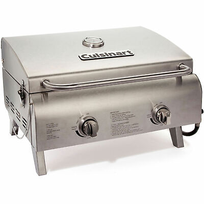 Cuisinart Chef's Style Outdoor Tabletop Grill, LP Gas Chef Portable Propane Gas Grill