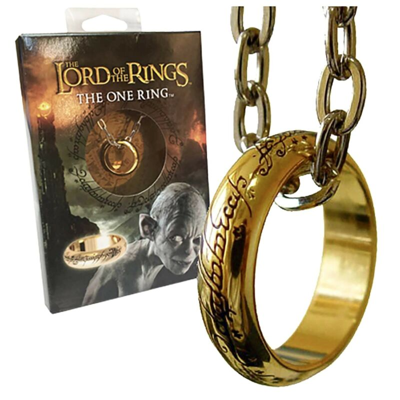 Lord of the Rings The One Ring Necklace Pendant Boxed Set Replica Licensed Noble