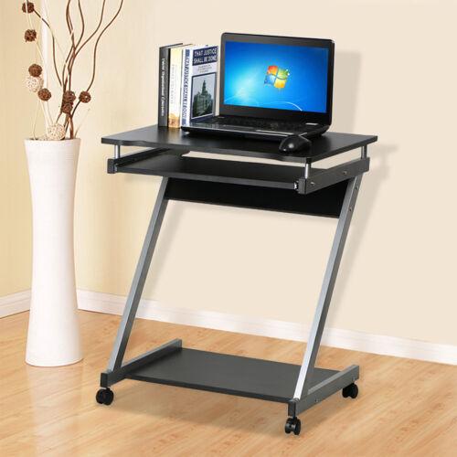 Corner Computer Desk Small Spaces On Castors Pc Table Bedroom Home Office Study Ebay