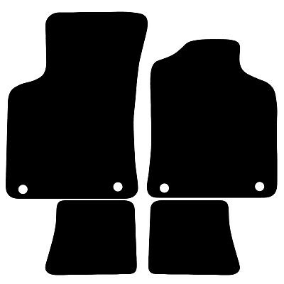 Audi TT 1999   2006 Tailored Carpet Car Floor Mats in Black 4pc Set with 4 Clips