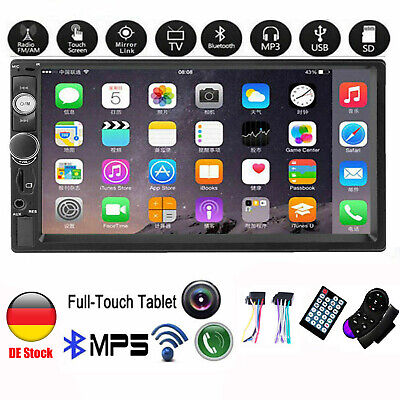 7 '' Autoradio Stereo Touchscreen Doppel 2Din Bluetooth MP5 AUX FM SD TF In-Dash Touch Screen Bluetooth
