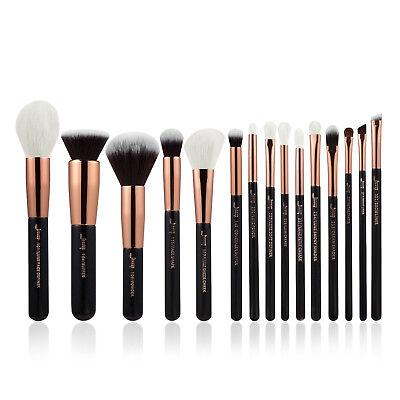 Jessup Rose Gold 15pcs Set Flat Foundation Powder Eyeliner Makeup Brushes set