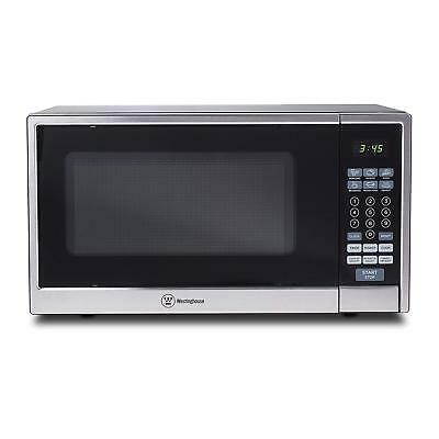 Westinghouse 1.1 Cubic Feet 1000 Watt Kitchen Counter Top Microwave Oven, Silver