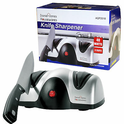 Electric Knife Sharpener Chef Razor Sharp Honer Grinder Sharpen Kitchen Knives