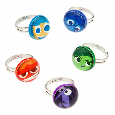 Disney Store INSIDE OUT Mood Ring 5pc Set Joy Sadness Anger Fear Disgust - Mood Ring Store