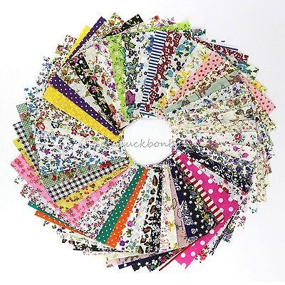 100 Stück Patchworkstoffe Patchwork Stoffpaket Baumwolle Stoff Reste