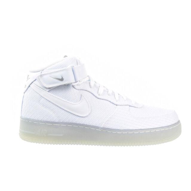 ... Nike Air Force 1 Mid 07 LV8 Men's Shoe White/Metallic Silver 804609-102  ...
