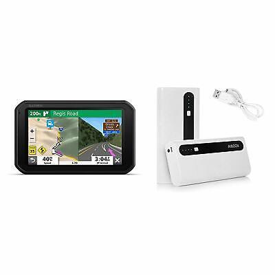 Garmin RV 785 GPS Navigator for RVs With Aibocn Battery Pack Bundle 010-02228-00