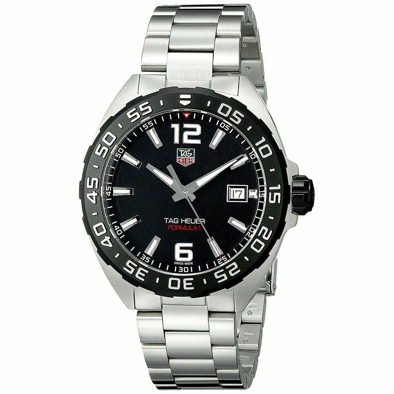 New Tag Heuer Formula 1 One Black Dial WAZ1110BA0875 Steel Mens 41mm Watch