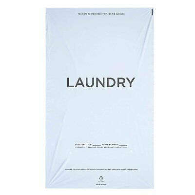 WELCOME Laundry Bags Hospitality - 14 X 24 Hotel Laundry Bags - Tear Tape Tie... - Hotel Welcome Bags