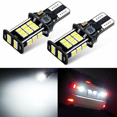 JDM ASTAR 2x 30-SMD 921 912 3020 SMD LED 6000K White Backup Reverse Lights Bulbs
