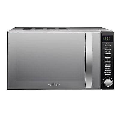 VYTRONIX Digital Microwave Oven 800W 20L 5 Power Levels Freestanding Black