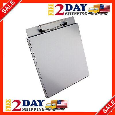 Letter Size Metal File Holder Clipboard Portfolio Aluminum School Office Paper