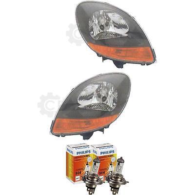 Scheinwerfer Set Ranault Kangoo II 04.03-07.07 klarglas H4 ohne Motor 1379912