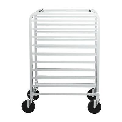 10 Tier Kitchen Bakery Rack Bun Pan Sheet Racking Trolley Corrosion-resistant