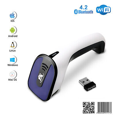 1d2d Wireless Bluetooth Barcode Scanner 3-in-1 Handheld Usb Qr Code Reader