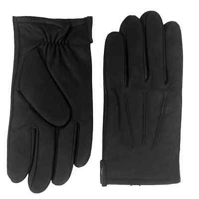 Dockers Mens Black Leather Gloves Fleece & Thinsulate Lined