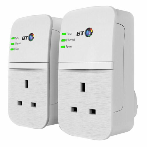 BT Flex 600 084285 Broadband Extender Kit with Wired AV600 Powerline Passthrough