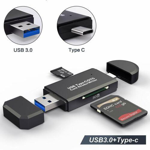 Hariier 3 in 1 OTG Micro USB 2.0 SD//TF//MMC Card Reader USB Charging Adapter for Samsung HUDD/_1