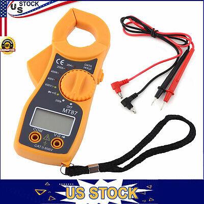 Digital Clamp Meter Multimeter Ac Dc Volt Amp Auto Ranging Current Tester 600a
