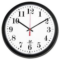 Chicago Lighthouse Black Quartz Contract Clock 13-3/4 Black 67700002
