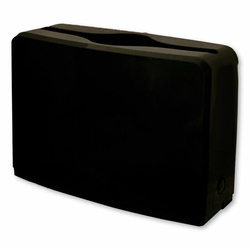 "GEN Countertop Folded Towel Dispenser 10.63"" x 7.28"" x 4.53"" Black 1607"