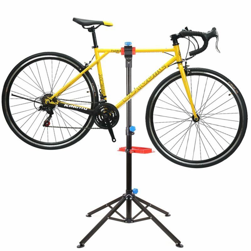 Heavy Duty Bike Repair Stand Adjustable Maintenance FoldingBike Rack w/Tool Tray