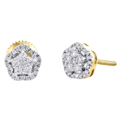 Halo Clous d/'oreilles 1//4 carats T.W Diamant Sterling Silver Fashion Jewelry Gift