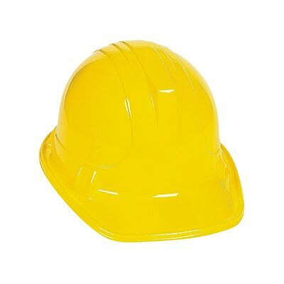 24 Yellow Plastic Construction Hat Dress Up Costume Play Pretend Party Favor LOT - Play Construction Hats