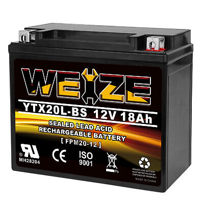 YTX20L-BS High Performance Maintenance Free Sealed AGM Battery For Motorcycle
