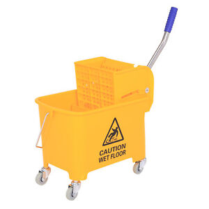 HomCom Janitor 20 Qt. Mop Bucket with Wringer