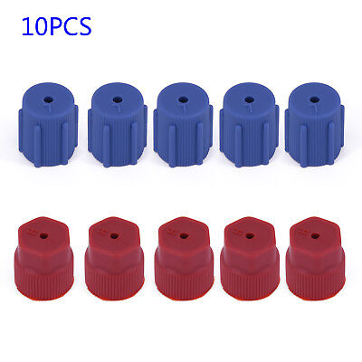 10Pcs AC Charging Port Service Cap R134a 13mm + 16mm High Low Side Caps A/C Red