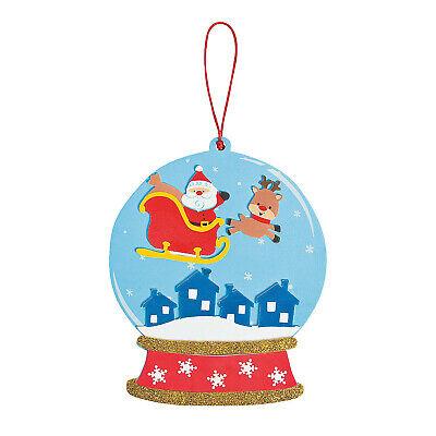 Santa Globe Tree Decoration Craft Kit Christmas Homemade Children Fun Activity ()
