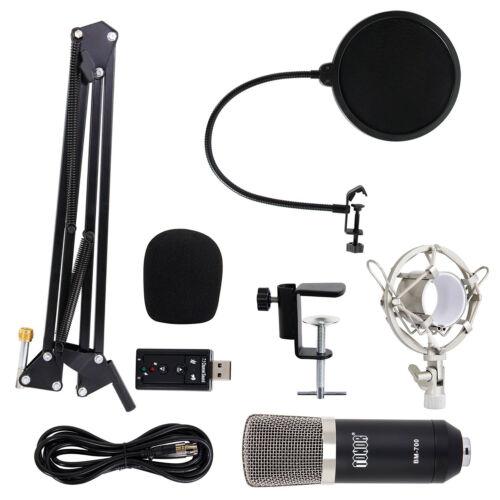 Купить Tonor - TONOR Professional Condenser Microphone Studio Recording Mic W/ Stand Black