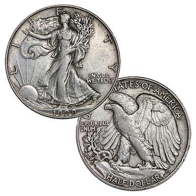 90% Silver Walking Liberty Half Dollars Average Circulated