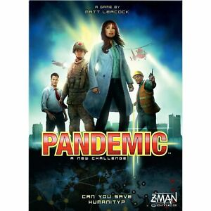 Pandemic Board Game by Z-Man Games - 100% Complete Brand NEW