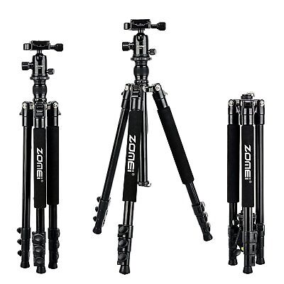 Zomei Q555 Portable Aluminium Travel Tripod for Canon Nikon Digital SLR Camera