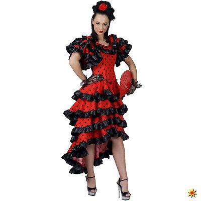 Damen Kostüm spanische Flamenco Tänzerin Alessandra Gr. 36-46 Fasching