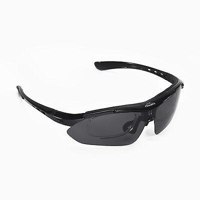 Walleva Black Polarized TR90 Sunglasses With Hat Clip+Prescription Lenses (Polarized Sunglasses With Prescription)