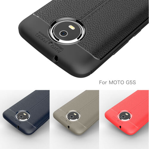 Back Case Shockproof Rubber Leather Cover For Motorola Moto