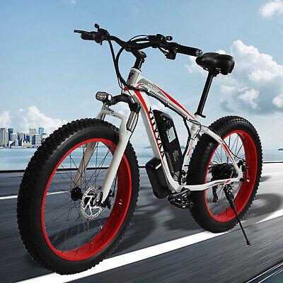26''500W/350W 36V Electric Snow Mountain E-Bike Bicycle 21Speed SHIMANO Fat Tire