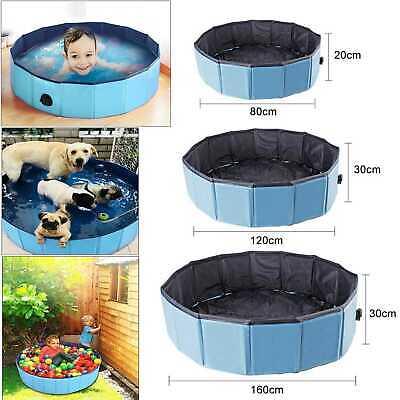 Faltbar Doggy Pool Hunde Pool für Kinder Hunde Schwimmbecken Swimmingpool Blau ()