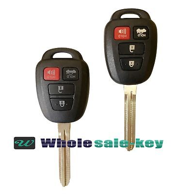 2 Replacement for 2012-2014 Toyota Camry Key Fob Keyless Entry Car Remote