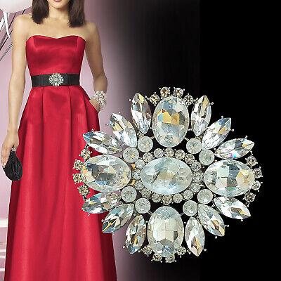 Plateado Diamante Motivo Pedrería Brillo Clavijas Espalda Bricolaje Piel Zapatos