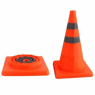 2pc Collapsible Traffic Cones Pop Up Reflective Parking Emergency Safety Cone US