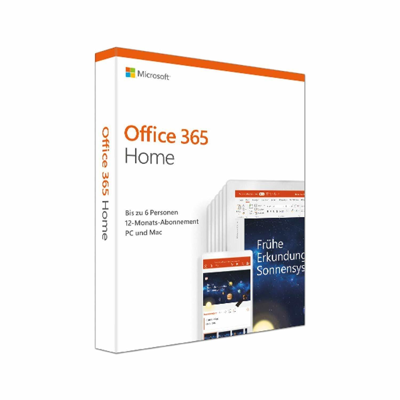 Microsoft Office 365 Home - 6 PCs/MACs + 6 Tablets - 1 Jahr Abo - Key